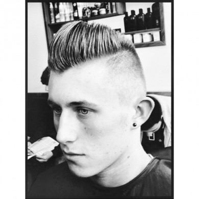 psychobilly hairstyles : Psychobilly Hairstyle Men Francos barbering lounge bristol barber men ...