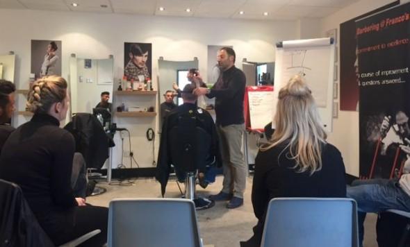 barbering expertise from Franco Lombardi of Barbering@Franco's in Bristol