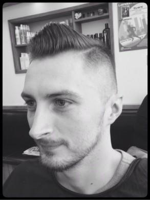 Side parting Short Back & Sides Men's hairdressing in Bristol from Barbering@Franco's