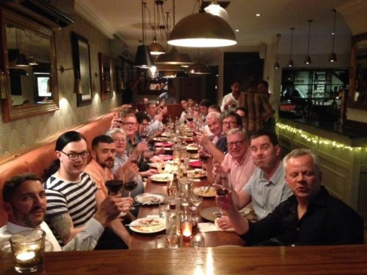 Legendary night out at Manna for men's hairdressing clients from Barbering@Franco's