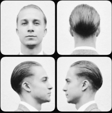 Slickback haircut for men in Bristol from Barbering@Franco's on Gloucester Road in Bristol