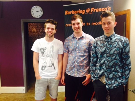 Examples of men's hairstyling in Bristol from Barbering@Franco's