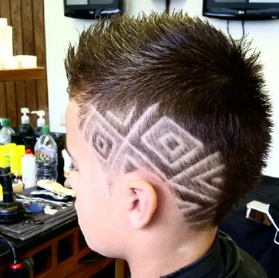 hair pattern hairstyle for men in Bristol from Barbering@Franco's
