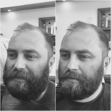 Beard shaping in Bristol from Barbering@Franco's