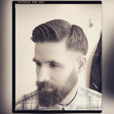 Short Back And Sides with Quiff haircut for men in Bristol from Barbering@Franco's