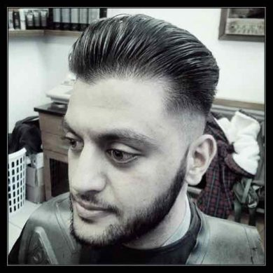 Pompadour Contour Fade haircut for men in Bristol from Barbering@Franco's