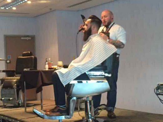 Brisotl barber at Barber UK event