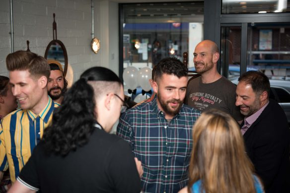Opening night of Bristol barbering salon Franco's Barbering Lounge