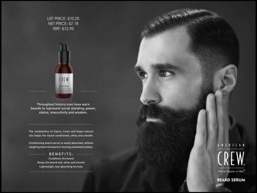 American Crew beard grooming products in Bristol from Franco's Barbering Lounge