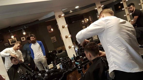Barbering techniques in Bristol at Franco's Barbering Lounge