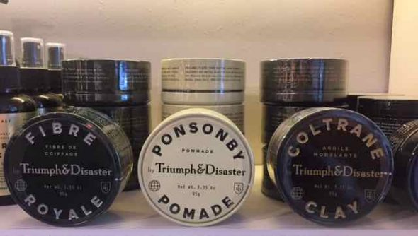 men's hair products in Bristol at Franco's Barbering Lounge Triumpgh & Disaster Fibre Royale