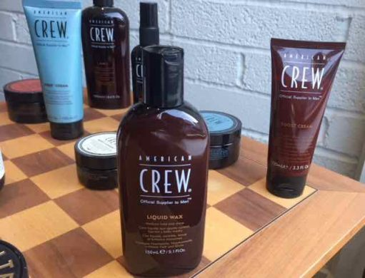 men's styling product Bristol American Crew Liquid Wax at Franco's Barbering Lounge